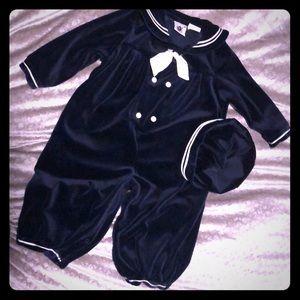 Velvet sailor suit